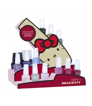 HELLO KITTY  - 16PC avec Presentoir | HELLO KITTY | GelColor | Opi