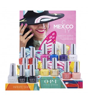 OPI Infinite Shine Mexico City 16 Pcs + Presentoir ISDM4 | Mexico City