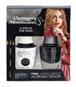 Gelish & Morgan Taylor Combo  A Kiss In The Dark