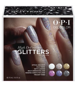 High Definition Glitters 2020 Add-On Kit # 1 6 pieces 15ml | OPI | GelColor