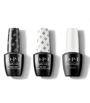 OPI TRIO BASE + TOP + Black Onyx 7.3ml |OPI | GELCOLOR | Semi Permanent