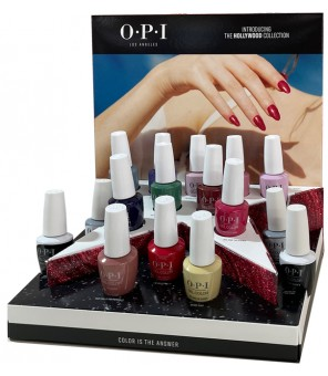 Hollywood GelColor Collection 16PCS 15ml + Presentoir   OPI   GelColor  HOLLYWOOD  